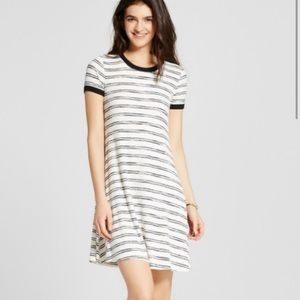 Xxl black and white ribbed dress target brand